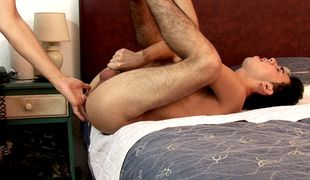 Hot-assed boy blows a lusty old dude